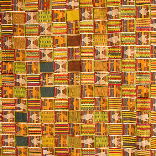 Vibrant prestige Ewe Kente women's cloth - African rare collectable textile