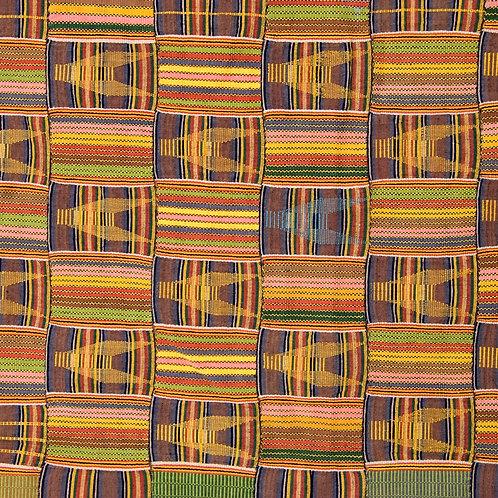 Ewe African kente cloth Ghana c 1970