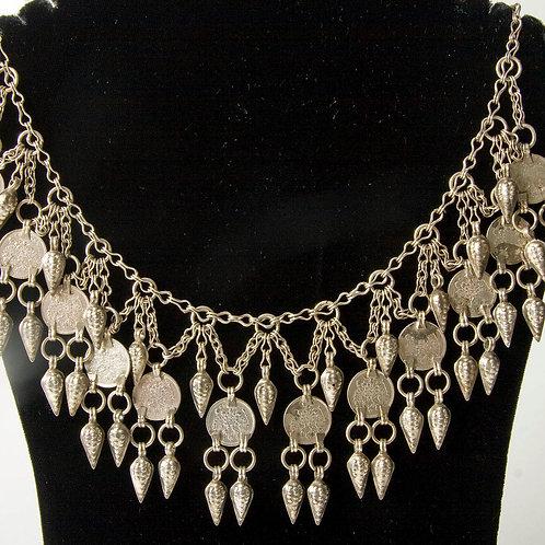19th Century Caucasian silver necklace