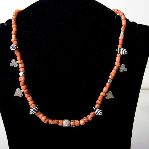 Moroccan antique bead necklace