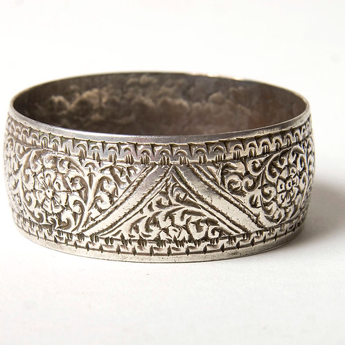 Finely etched vintage Moroccan cuff