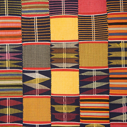 Superb Ewe kente woman's cloth, Ghana  circa 1950
