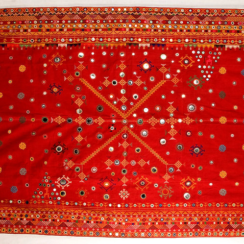Stunning and rare Bishnoi odhni or odhani embroidered and mirrored marriage shaw