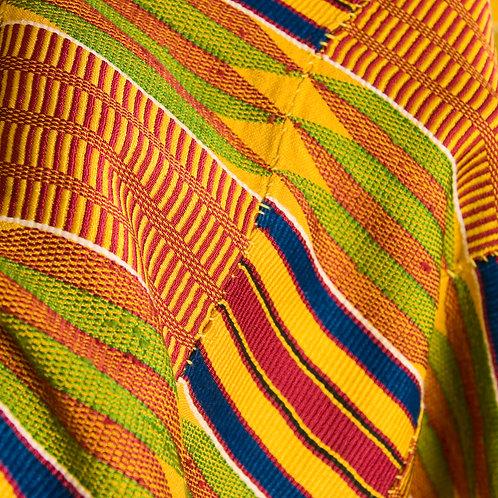 Fine Asante kente prestige cloth 'gold dust' Womens cloth