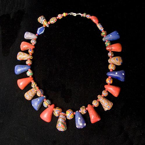 Rare Mauritanian Kiffa beads necklace