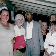 Carroll with Rebecca, Buddy and Shanna