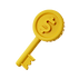 3d-golden-key-with-dollar-coin_23-214893