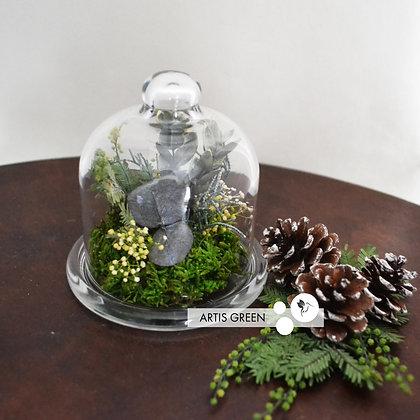 """Мини-колба со стабилизированными растениями """"Little forest"""""""