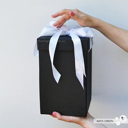 Подарочная коробка для колбы с розой