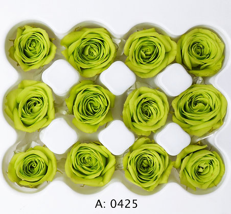 Роза зеленая Ø2-3 см мини Pistache, 12 шт/уп. А: 0425