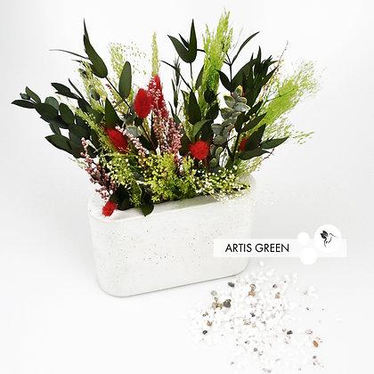 Композиция из стабилизированных растений в бетоне