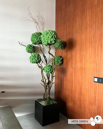Дерево из мха, топиарий 1.9 м