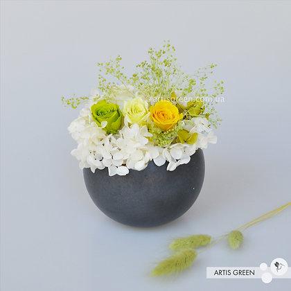 Композиция из стабилизированных растений «Lemon&White»