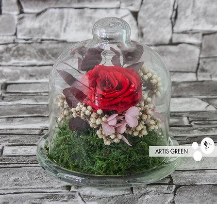Мини-колба с розой «Little passion»
