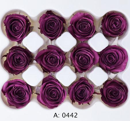 Роза фиолетовая Ø2-3 см мини Plum, 12 шт/уп. А: 0442