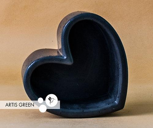 Бетонный горшочек «Темное сердце»