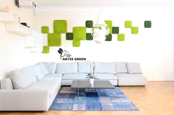 Плитка из моха в декоре Artis Green