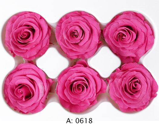 Роза розовая Ø3,5-4,5 см средняя Pink, 6 шт/уп. А: 0618