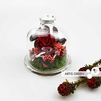 Мини-колба с розой «Rosy spring»