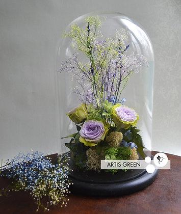Розы в большой колбе «Purple storm»