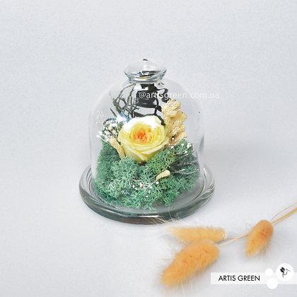 Мини-колба с розой «Lemon flower»