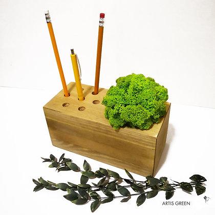 Органайзер для канцелярии со скандинавским мхом, салатовый