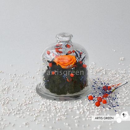 Мини-колба с оранжевой розой «Весна 2.0»