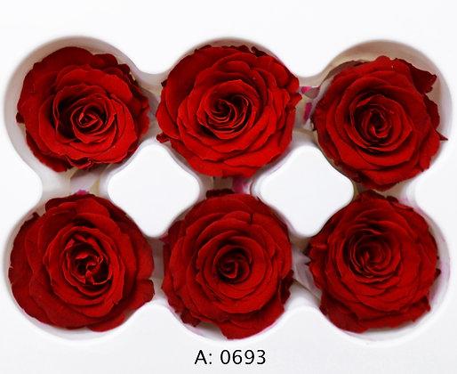 Роза красная Ø3,5-4,5 см средняя Verona Red, 6 шт/уп. А: 0693