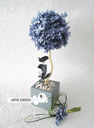Дерево из гортензии, топиарий Blue Hydrangea, 30 cm