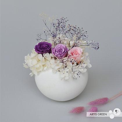 Композиция из стабилизированных растений «Violet&White»