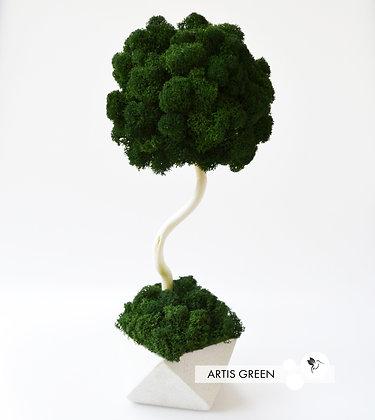 Дерево из мха, топиарий Fresh Dark New 30 cm