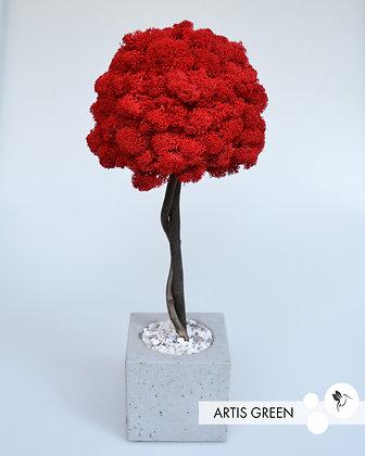 Дерево со скандинавским мхом, топиарий 40 cm