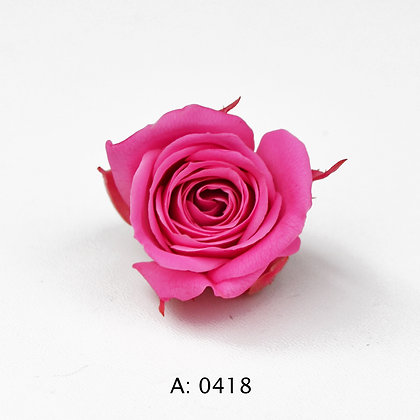 Роза розовая Ø2-3 см мини Pink, А: 0418