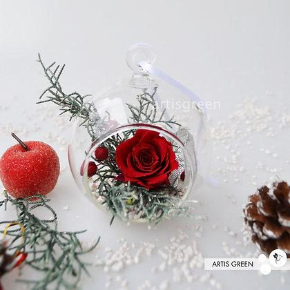Новогодние ёлочные игрушки с вечной розой «Вивиан Кало». Свежесть от 3х лет!