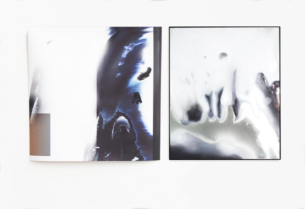 what remains / print and mirrorpainting / Susanne schwieter