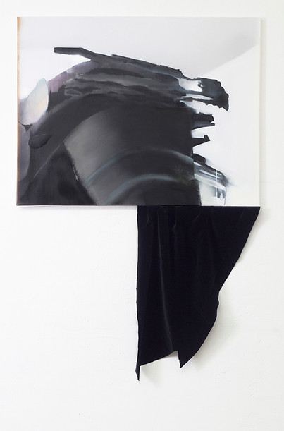 Curtain in Relation to the Things Surrounding it / painting / Susanne Schwieter