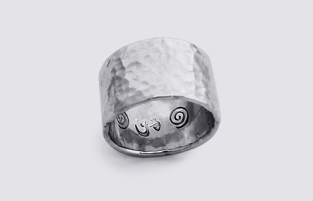 Silver ring by student