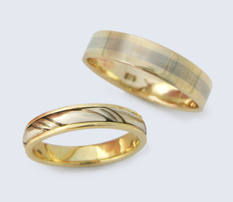 Wedding rings - twist & inlay