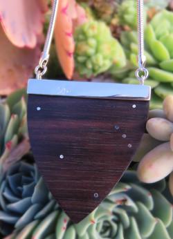 Mahogany large laser pendant back