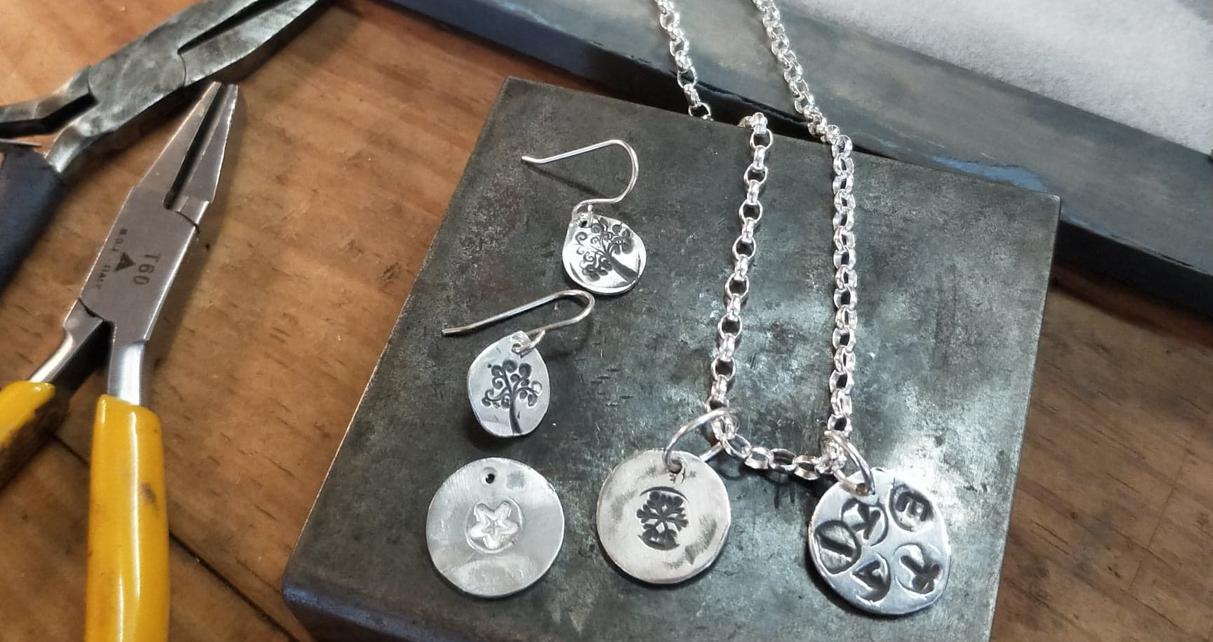 Silver clay pieces