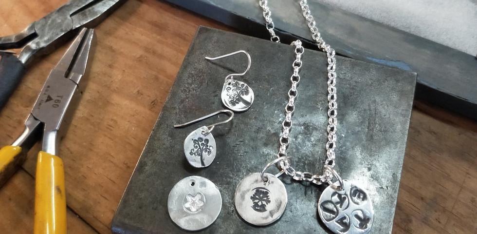 Silver clay pieces