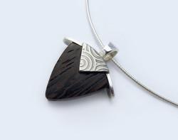 Zebrano wood pendant