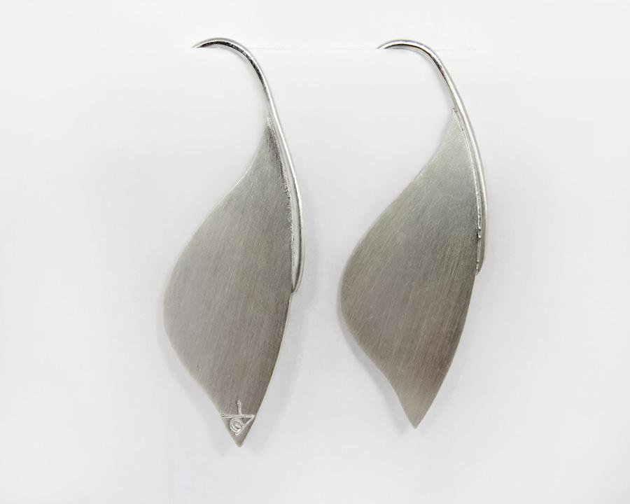 Silver Leaf Hook Earrings