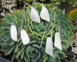Mixed silver earrings