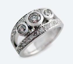 Diamond gold remodelled engagement ring