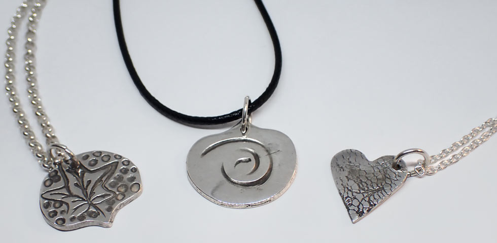 Kids' clay jewellery creations