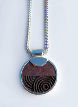 Purple heart laser engraved pendant