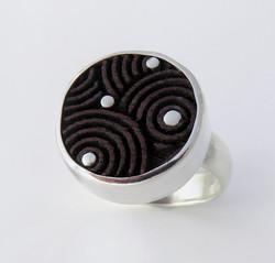 Purple heart wood laser ring