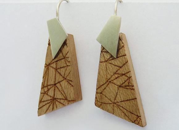 Birdeye timber earrings