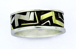Tribal symbol inspired men's ring